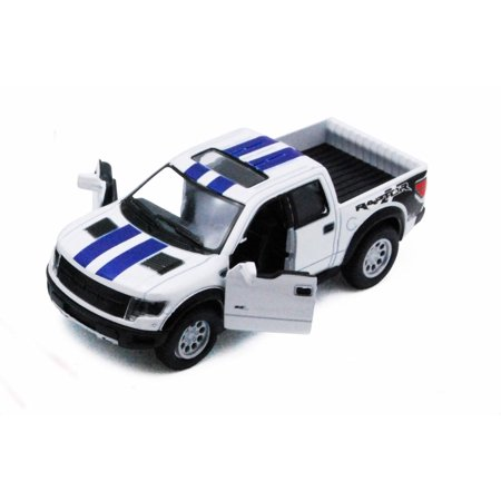 2013 Ford F-150 SVT Raptor SuperCrew Pickup Truck, White - Kinsmart 5365DF - 1/46 scale Diecast Model Toy Car (Brand New, but NOT IN BOX) (1932 Ford Tow Truck)