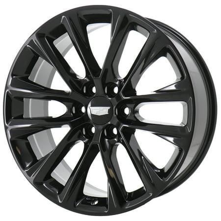 CADILLAC ESCALADE 2007 - 2020 GLOSS BLACK Factory OEM Wheels Rims (Not Replicas) 2000 Cadillac Escalade Wheel