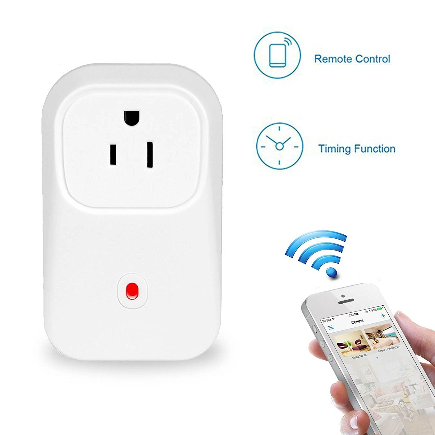 EEEKit Wifi Wireless Smart Switch Socket Wall Plug Remote Control ...