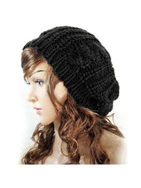Womens Beret Beanie Hats Winter Warm Knitted Crochet Slouchy Knit Baggy Ski Cap