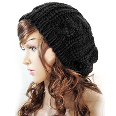 Womens Beret Beanie Hats Winter Warm Knitted Crochet Slouchy Knit Baggy Ski Cap ()