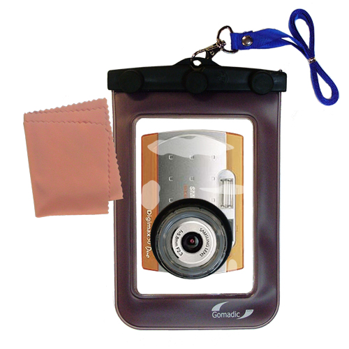 Gomadic Waterproof Camera Protective Bag Suitable For The Samsung Digimax 50 Duo  -  Unique Floating Design Keeps Camera Clean And Dry