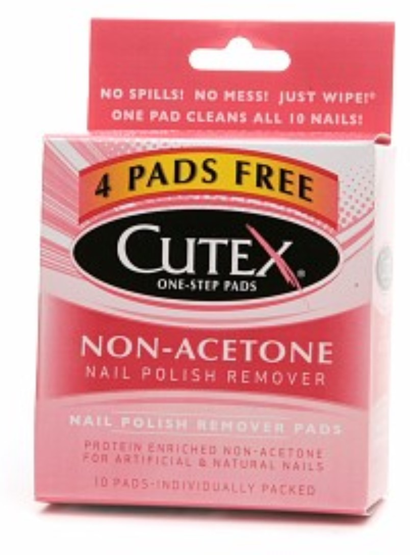 Cutex Nail Polish Remover Pads, Non-Acetone 10 ea (Pack of 6 ...