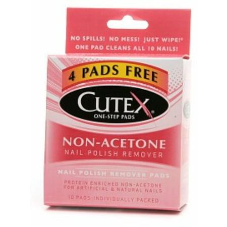 Cutex Nail Polish Remover Pads Non Acetone 10 Ea Pack Of 6 Walmart Com