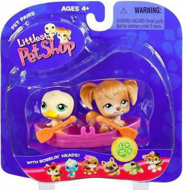 Littlest Pet Shop Pet Pairs Duck & Dog Figure 2-Pack