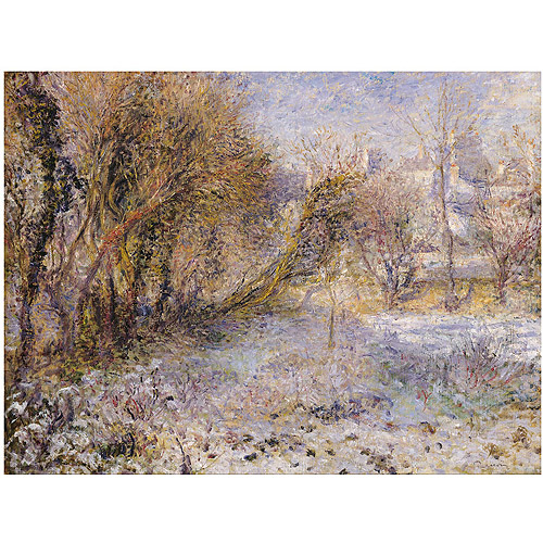 "Trademark Fine Art ""Snowy Landscape"" Canvas Art by Pierre Renoir"