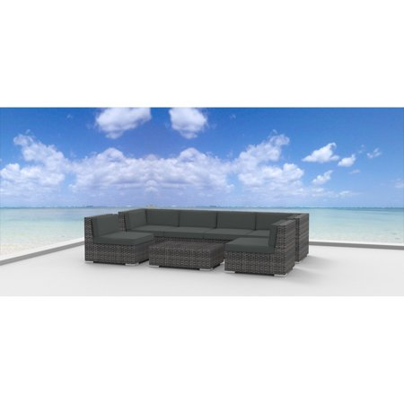 Urban Furnishing Oahu 7 Piece Outdoor Wicker Patio Furniture Set