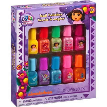 Dora The Explorer Nail Polishes Set Of 10 Walmart