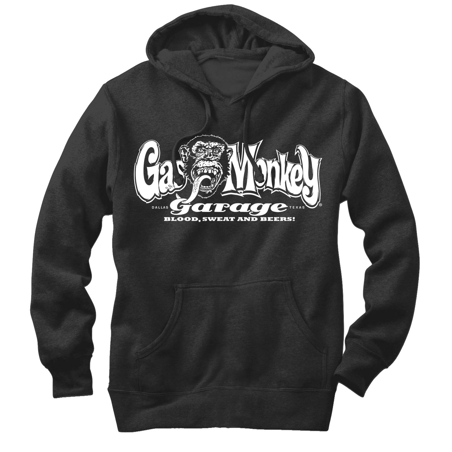 Gas Monkey Blood, Sweat, and Beers Mens Graphic Lightweight Hoodie