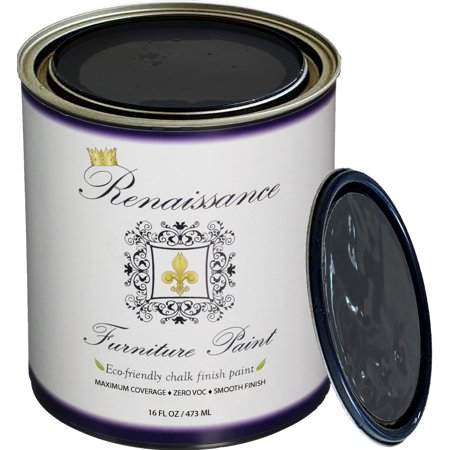 Renaissance Chalk Finish Paint - Gothic Grey Pint (16oz) - Chalk Furniture & Cabinet Paint - Non Toxic, Eco-Friendly, Superior