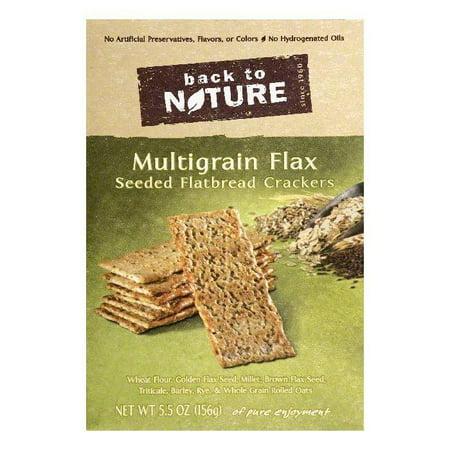 Back To Nature Multigrain Flax Seeded Flatbread Crackers, 5.5 OZ (Pack of (Kracker Flatbread)