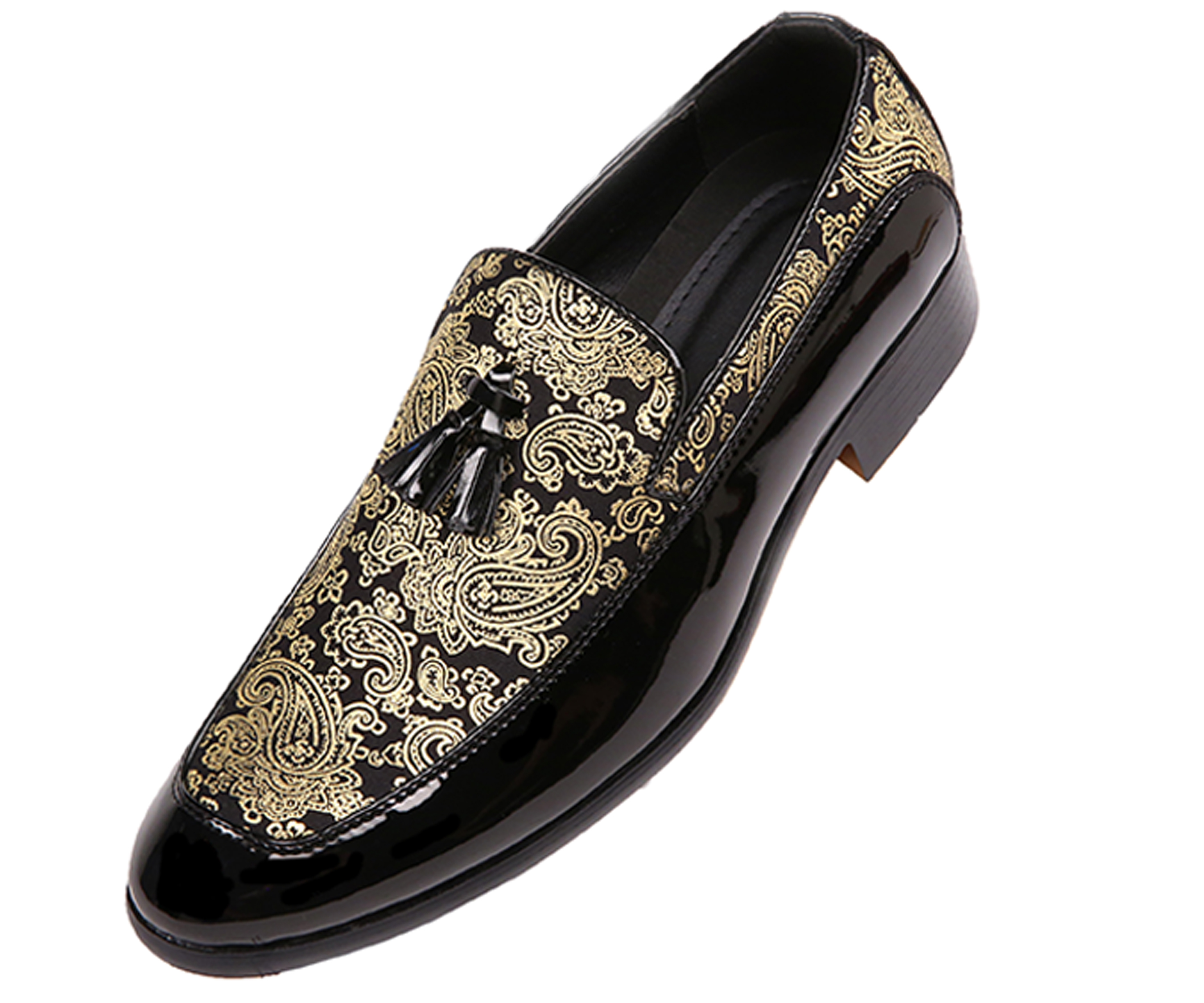 mens black dress shoes with gold