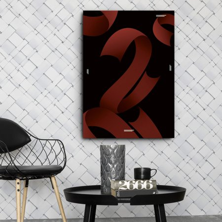 "Red Ribbons 20""Wx28""H - image 2 de 2"