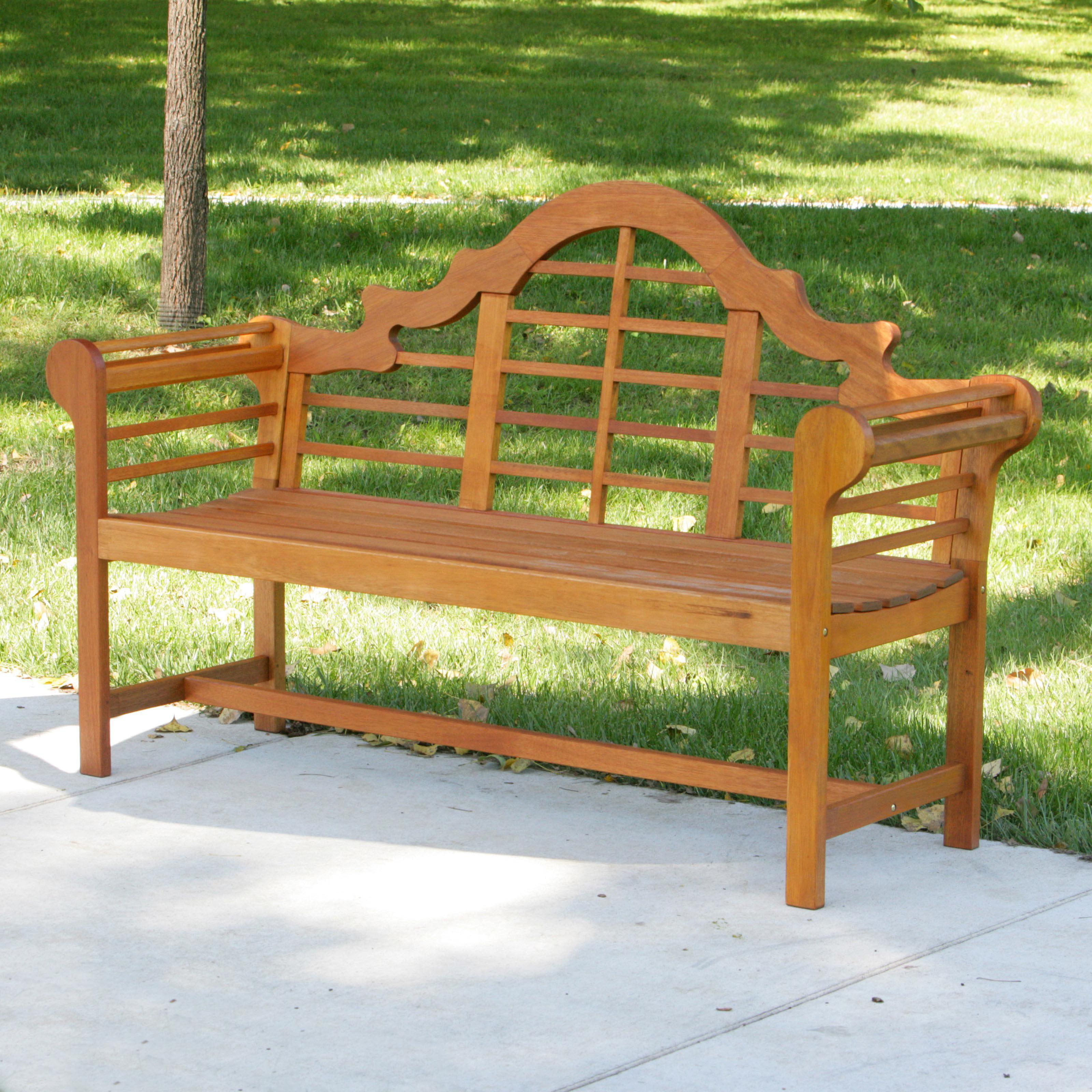 Achla Designs Lutyens Eucalyptus Wood Garden Bench