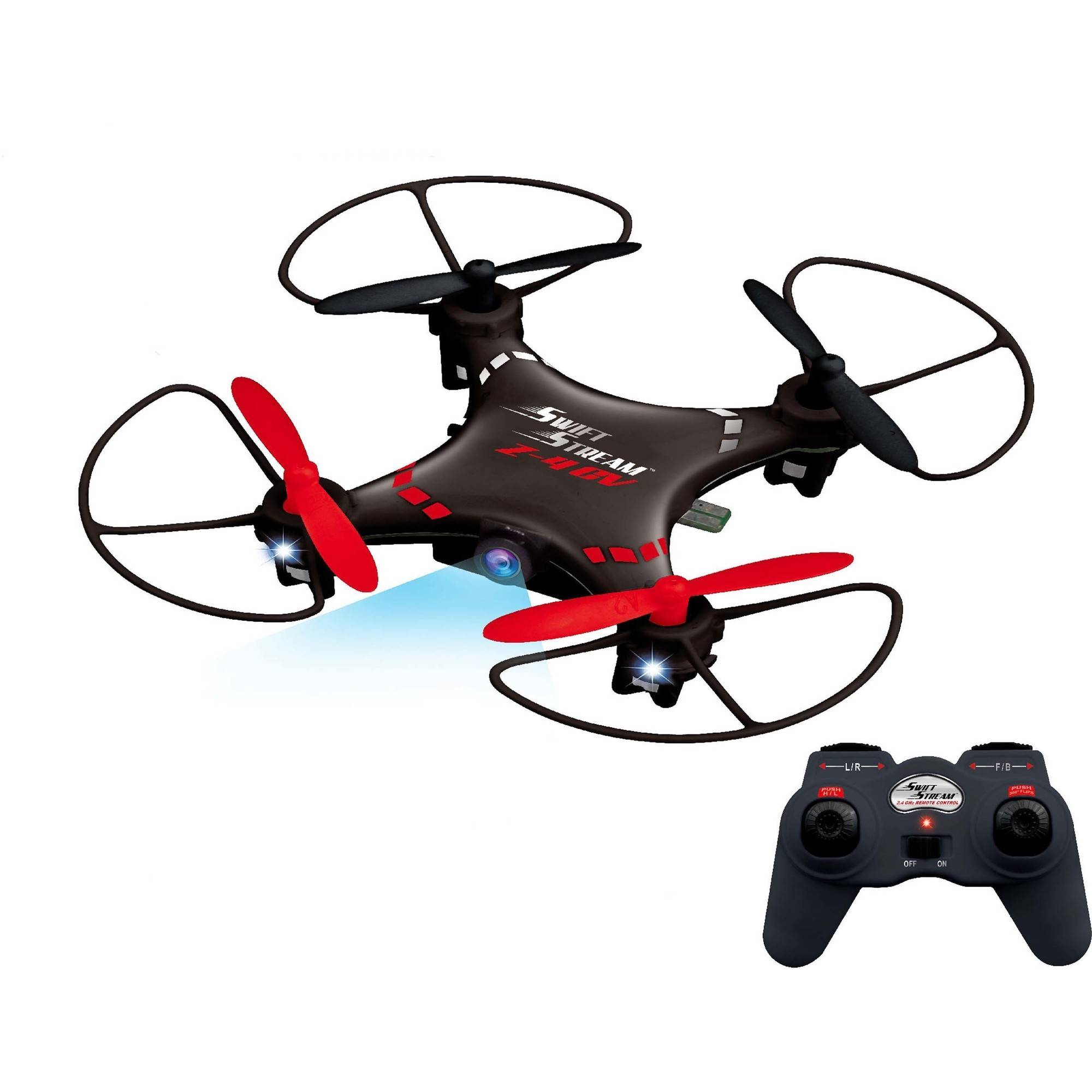 Swift Stream Z-4CV 4Hz 5-Channel RC Mini Drone with 6-Axis Gryo and 0.3MP Camera, Black