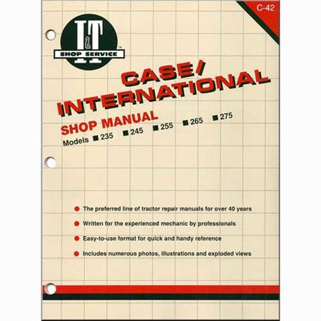 I&T Shop Manual, New, Case IH, International - Ih Shop Manual