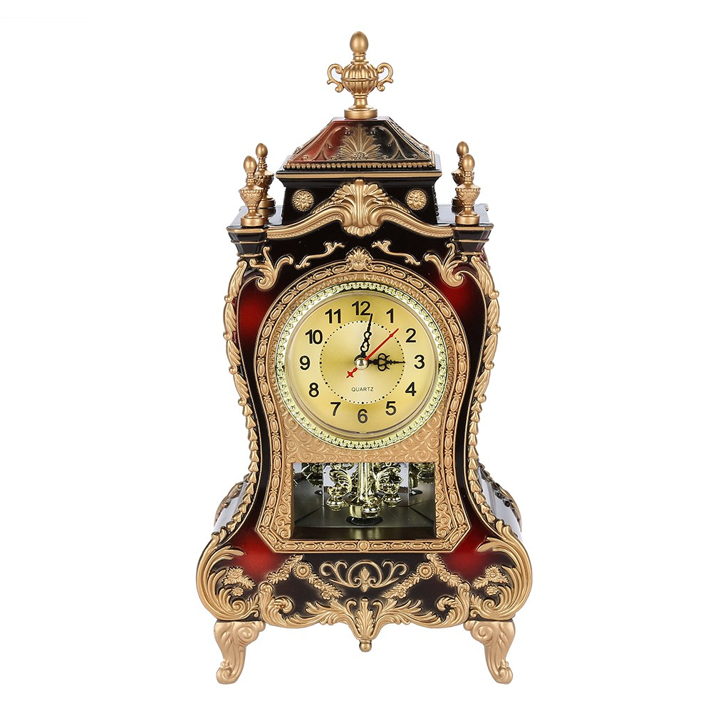 Hotel etc Office Market,Display Vintage Retro Old Fashioned Style Plastic Table Clock Antique Home Hotel Decorative Desk Alarm Clocks for Home White
