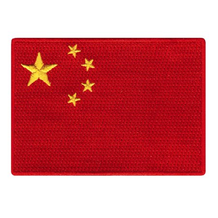 China Flag Embroidered Iron-on Patch