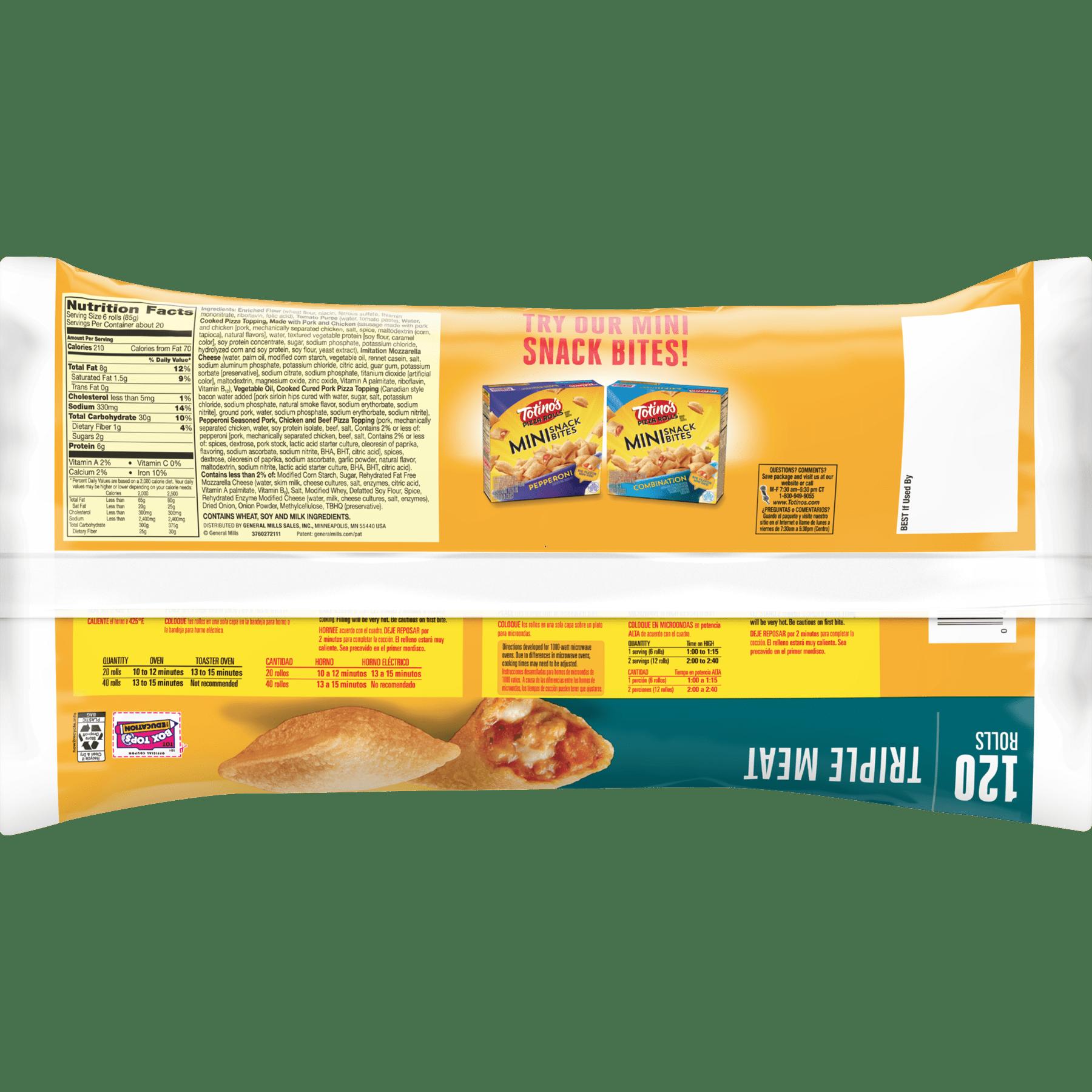 7e09c0212 Totino s Pizza Rolls Brand Triple Meat Pizza Snacks