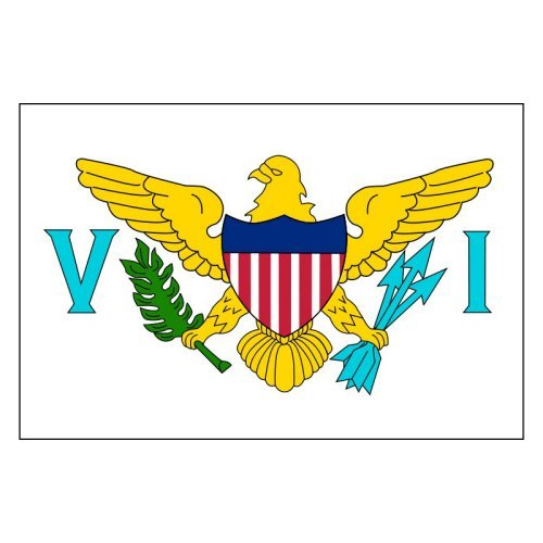 U.S. Virgin Islands Flag 3x5ft Nylon-Indoor: Add Pole Hem and Fringe