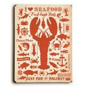 Artehouse LLC I Love Seafood Wall D cor