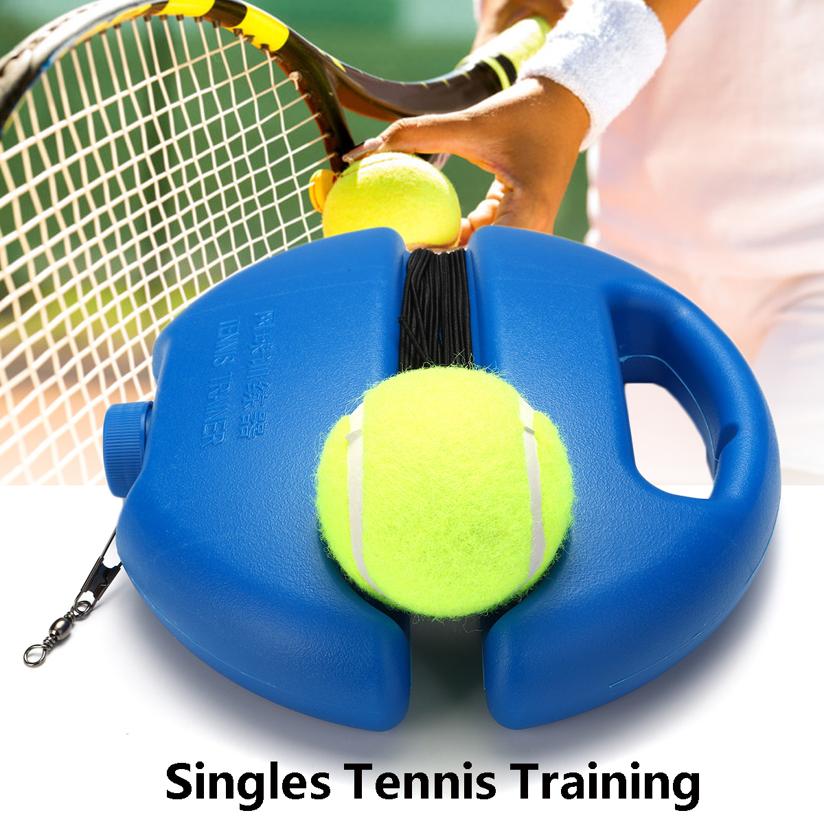 Tennis Ball Trainer Training with String for Beginners Outdoor Rope Practice