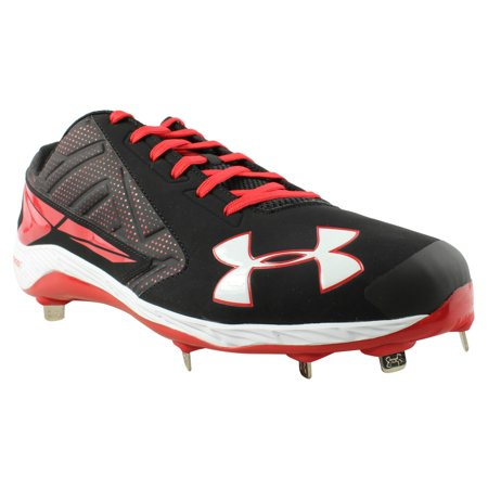 New Under Armour Yard Low St Mens 15 Black Red Baseball