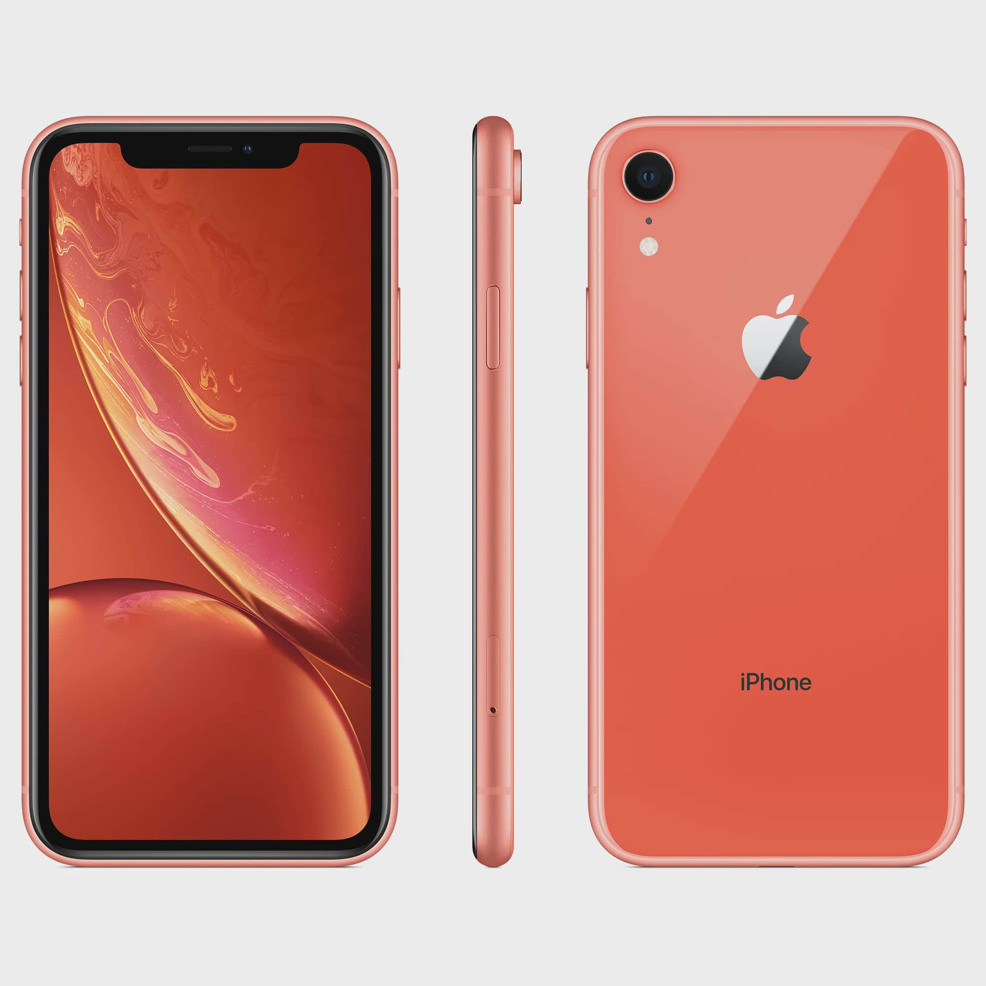 new style 0e579 b7a24 Walmart Family Mobile Apple iPhone XR w/64GB, Coral
