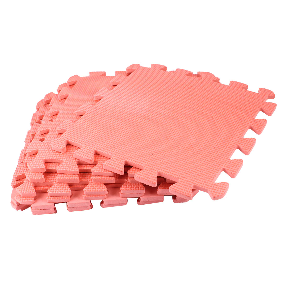 Interlocking Watermelon Red Gym Anti-skid Foam Floor Tiles Mats 9 Pcs