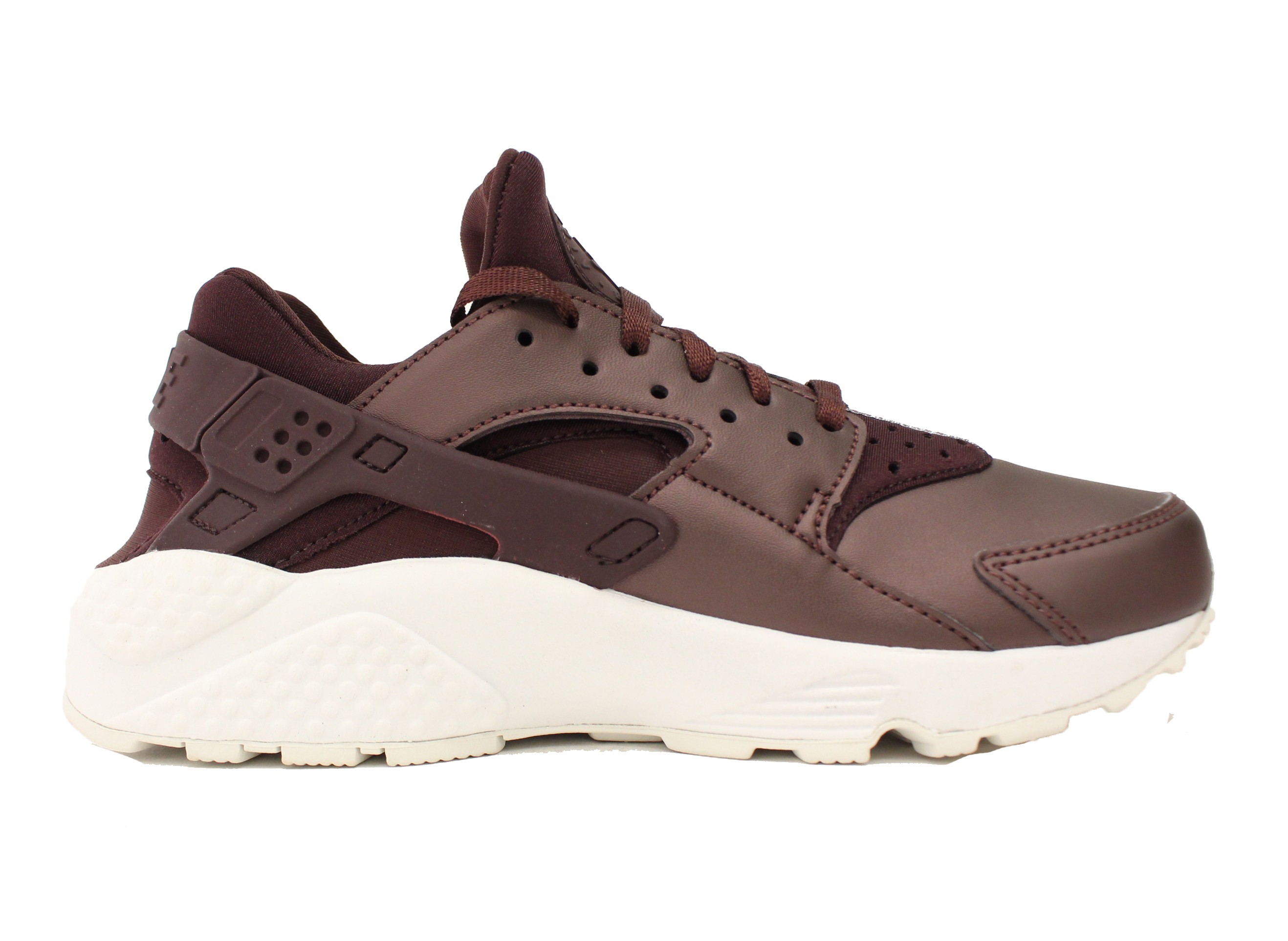 NIKE WOMENS AIR HUARACHE RUN MAHOGANY PREMIUM SZ 7.5 METALLIC MAHOGANY RUN WHITE AA0523 202 58075c