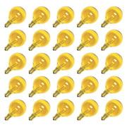 Sival 40129 - G40 Candelabra Screw Base Transparent Yellow (25 pack) Christmas Light Bulbs