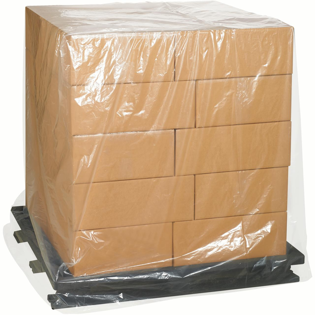 Box Helmets Pallet Covers,1 Mil,48x46x72,Clr,100/CS - BXP...