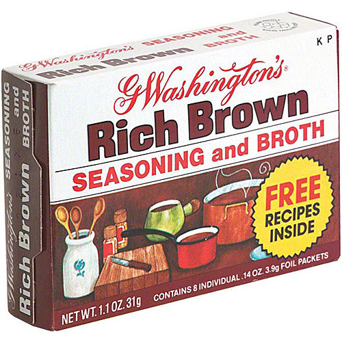 G. Washington's Brown Seasoning And Broth, 1.1 oz (Pack of 24)