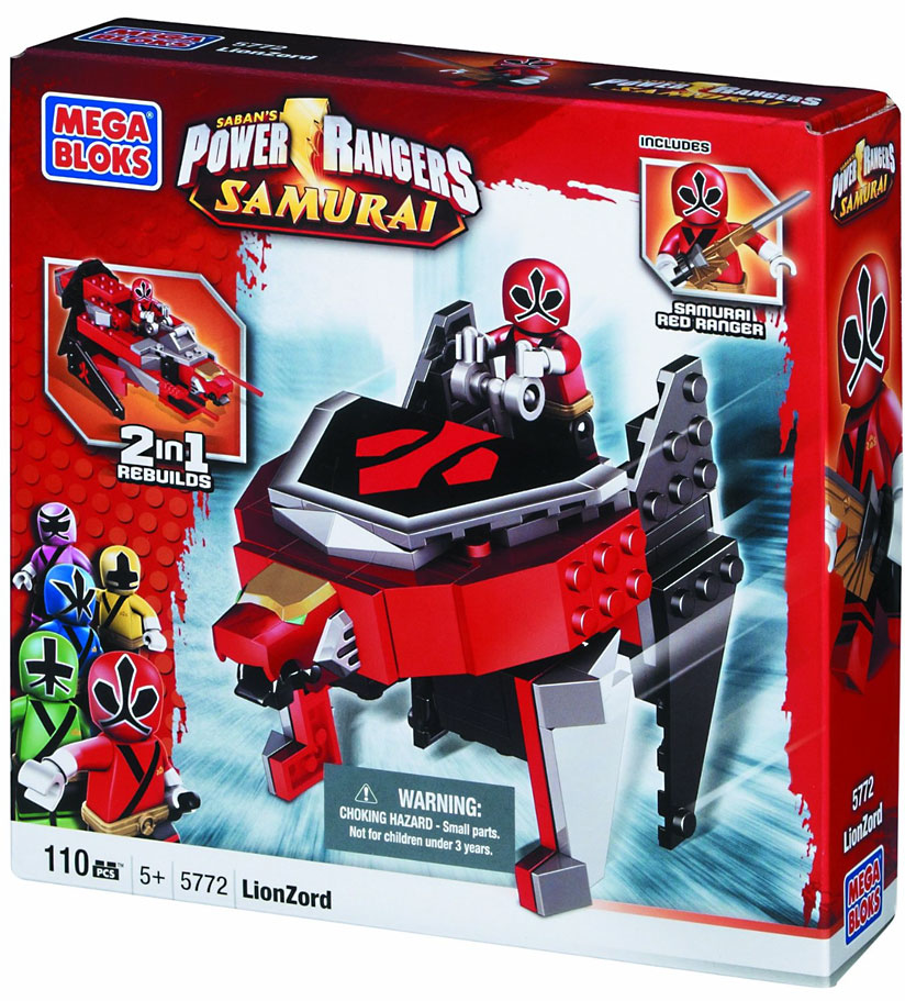 Mega Brands Power Rangers Samurai - Red Lion Folding Zord