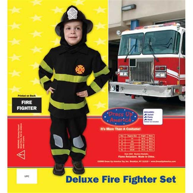 Dress Up America Deluxe Fire Fighter Dress Up Costume Set X-Large 16-18 203-XL
