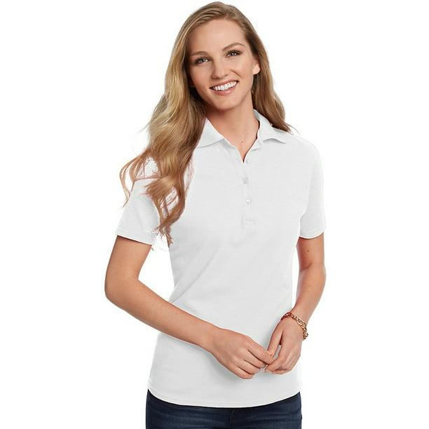 Hanes - Hanes Comfort Soft; Cotton Pique Women's Polo Shirt, Color ...