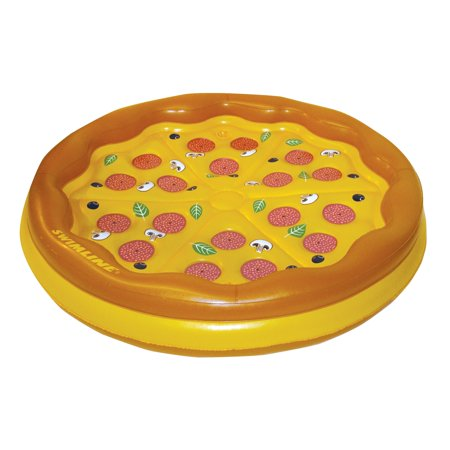 Swimline Giant Inflatable Pizza Island Swimming Pool Float Only $16.69