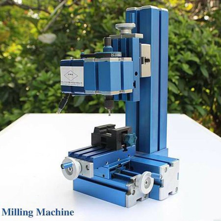 Mini Milling Machine DIY Woodworking Metal Aluminum Processing Tool 100V~240V ,DIY Tool CNC Metal Motorized Mini Lathe Machine