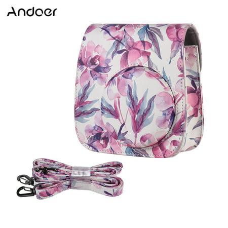 Insta Bag (Andoer PU Camera Case Bag for Fujifilm Instax Mini 9/8+/8s/8, Pink)