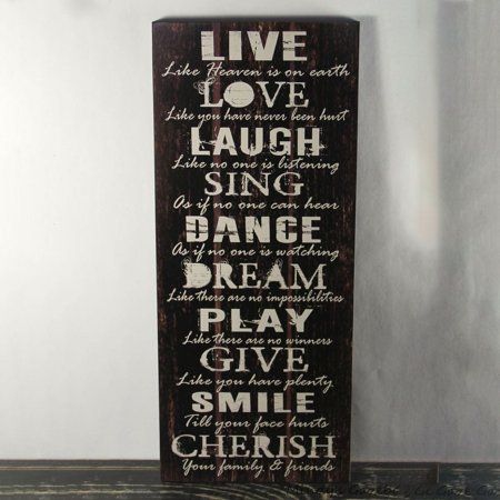 Thick Premium Sign (Decorative Wooden Signs Rustic Country Black Wood 7.5