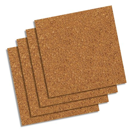 French Bulletin Board (Quartet Natural Cork Tiles,12