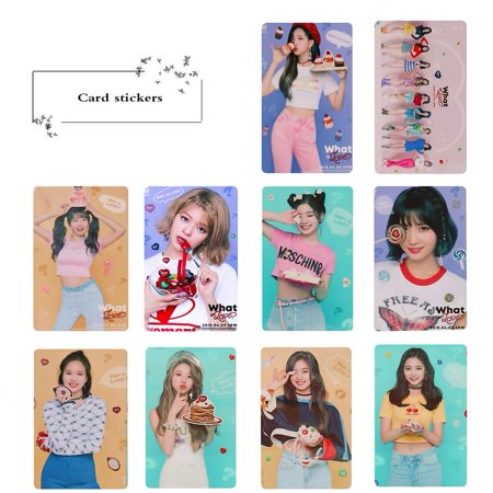 Fancyleo 40 Pcs Card Stickers TWICE What is Love Photo Postcard Stickers Lomo Cards Stickers Fans Best Gift ()