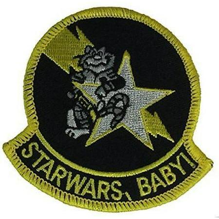 USN NAVY VF-33 STAR WARS BABY FIGHTER SQUADRON PATCH STAR FIGHTERS VETERAN (Baby Star Wars)