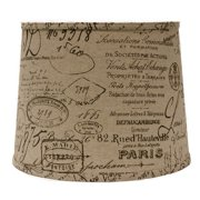 Ophelia & Co. French Script 14'' Linen Drum Lamp Shade