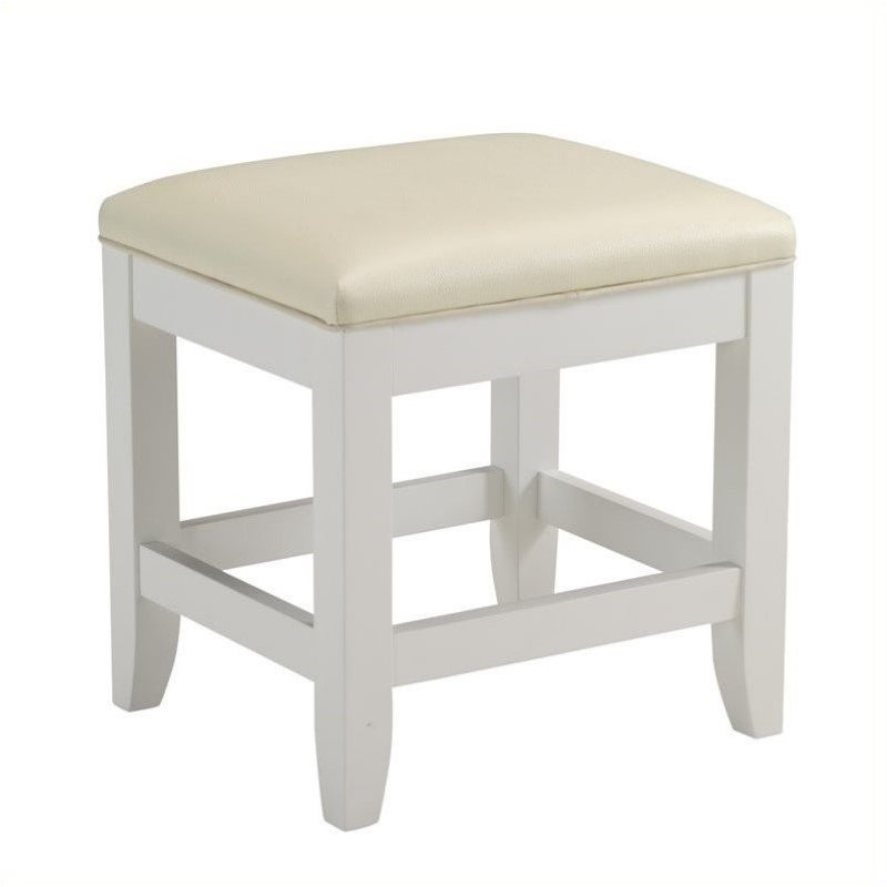 Hawthorne Collections Vanity Bench in White by Hawthorne Collections