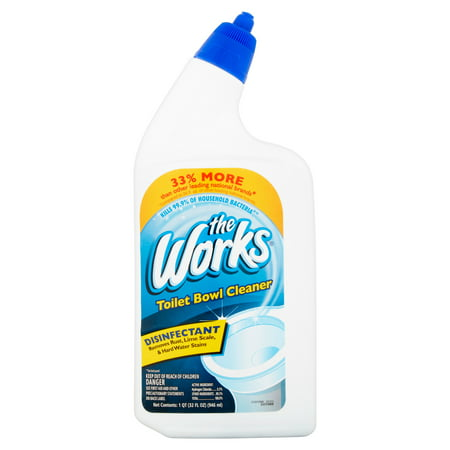 Foaming Toilet Bowl Cleaner - The Works Toilet Bowl Cleaner, 1 qt