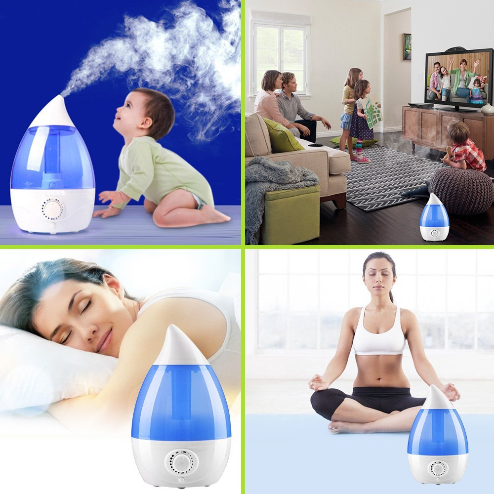 Cool Mist Ultrasonic Humidifier Vaporizer Essential Oil Aroma Diffuser Crane by Amazing Life
