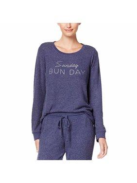 Jenni by Jennifer Moore Graphic-Print Pajama Top (Sunday Bunday, X-Small)