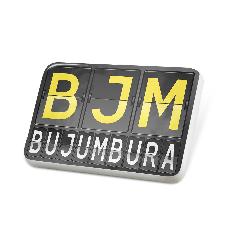 Porcelein Pin BJM Airport Code for Bujumbura Lapel Badge – NEONBLOND
