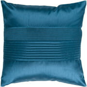 "18"" Teal Blue Tuxedo Pleats Decorative Throw Pillow"